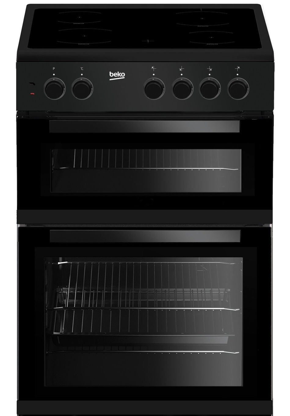 Beko Twin Cavity Cooker With Single Oven And Separate Grill